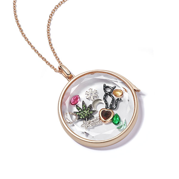 Loquet rose gold locket