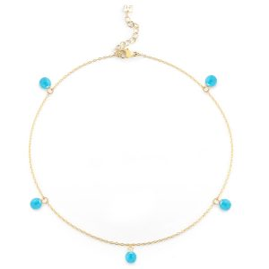 Mateo turquoise anklet