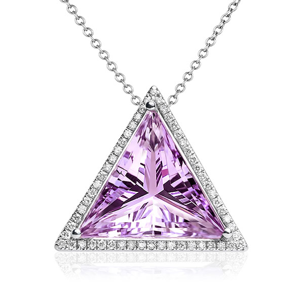 Maya Gemstones Triangle Power amethyst pendant