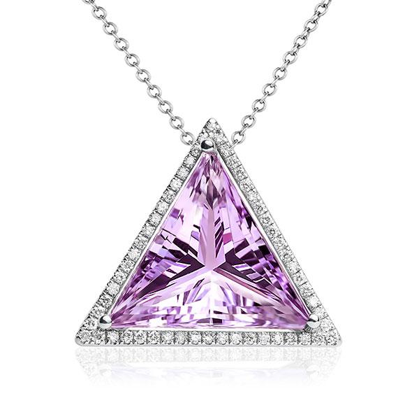 Maya Gemstones Triangle Power amethyst pendant