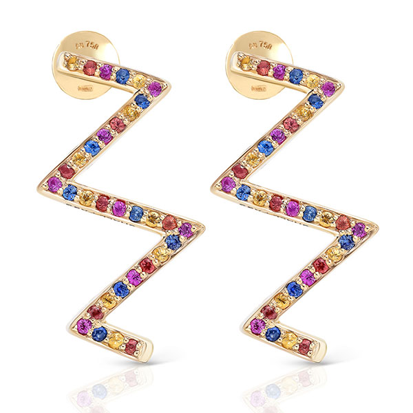 Maya Gemstones ZigZag earrings