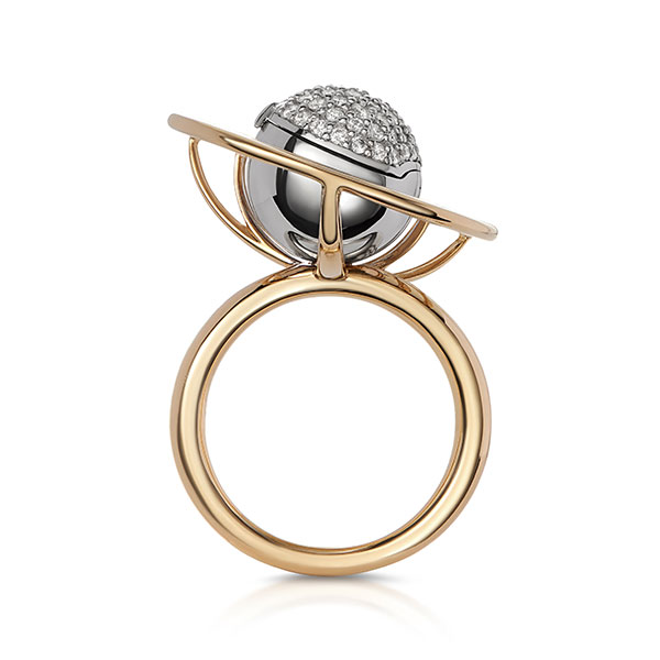 Maya Gemstones Cosmic pearl ring