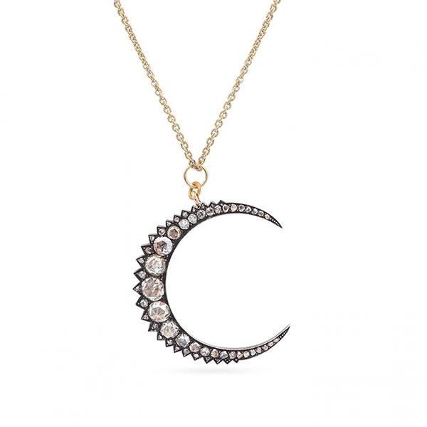 Platt Boutique vintage crescent necklace