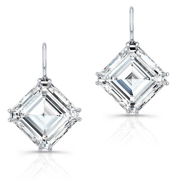Regina King Forevermark Asscher earrings