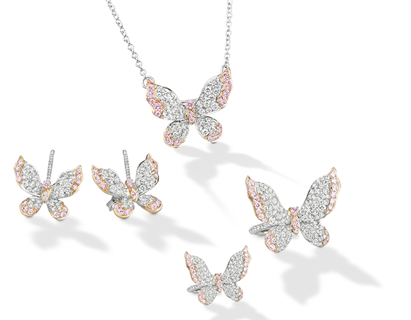 Scott West Twilight collection argyle butterfly jewelry