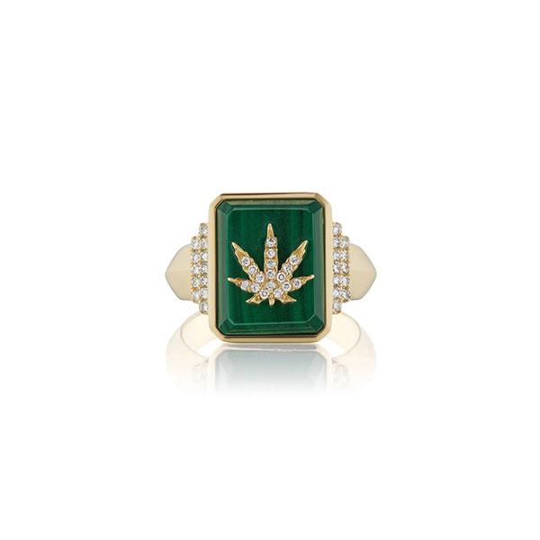 Sorellina cannabis signet ring