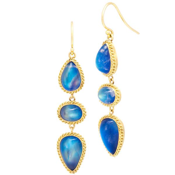 Amali moonstone earrings