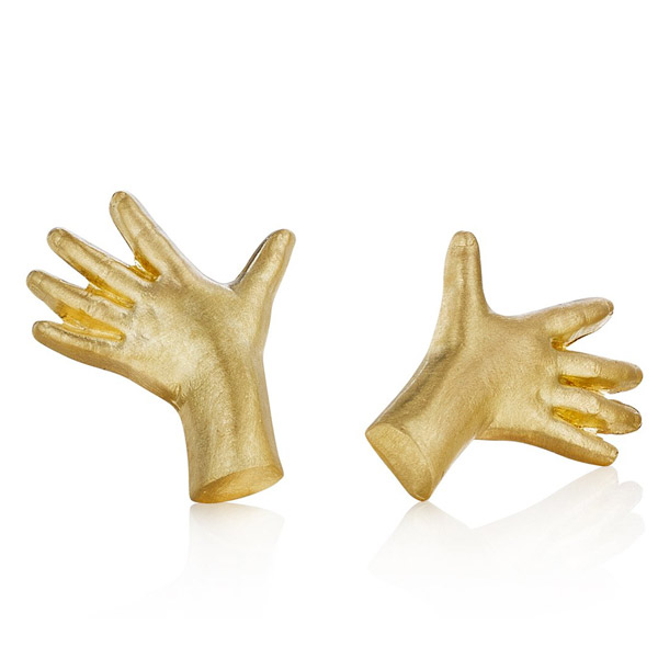 Anthony Lent Adorned Hands stud earrings