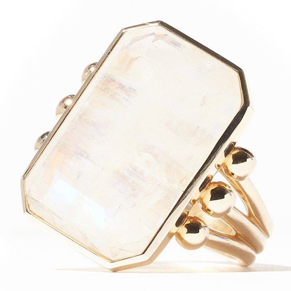 Campbell and Charlotte moonstone ring