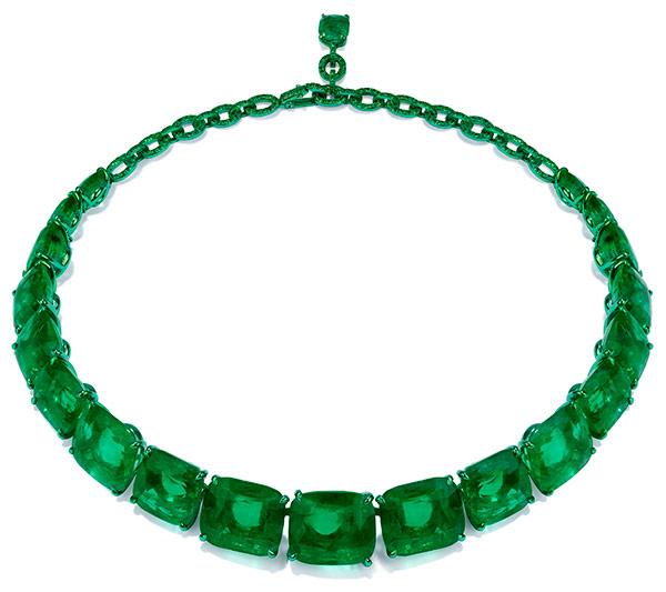 Glenn Spiro emerald necklace