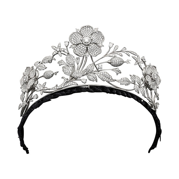 Hancocks London floral leaf motif tiara