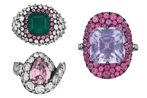JAR rings at Christies
