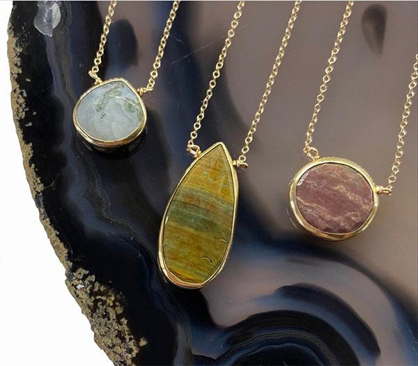 Jasper necklaces