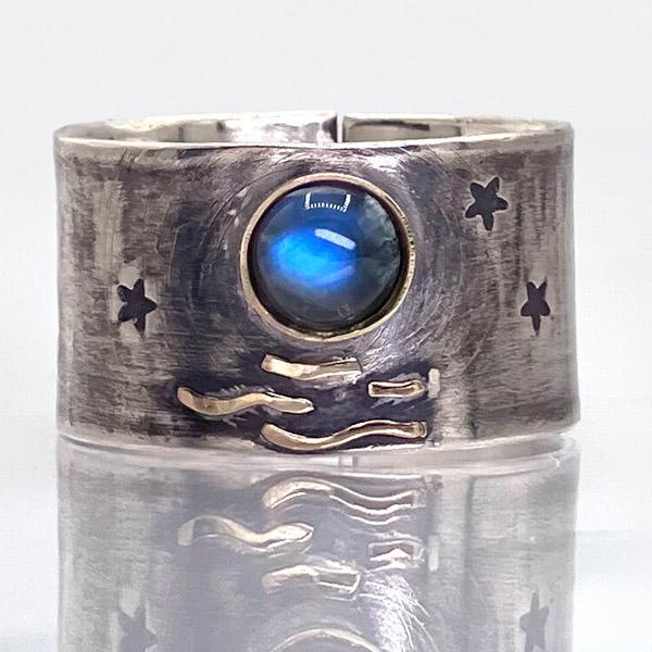 Jen Volkodav moonstone ring
