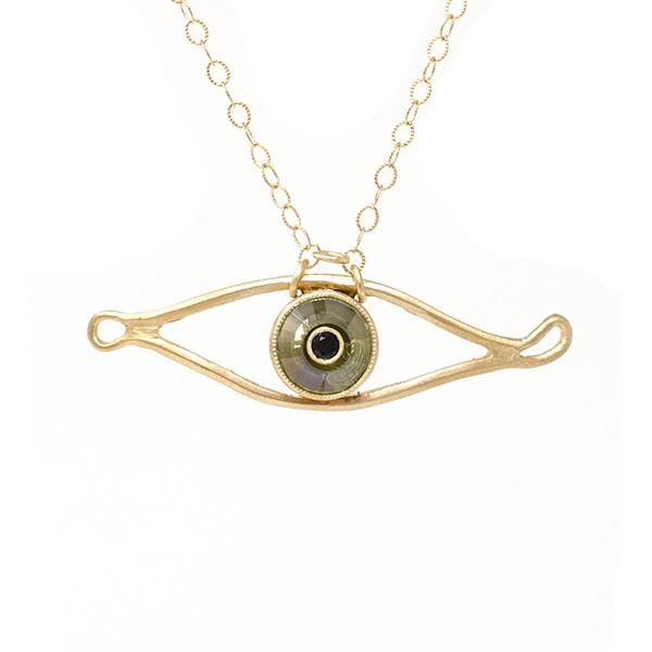 Jennifer Dawes evil eye necklace