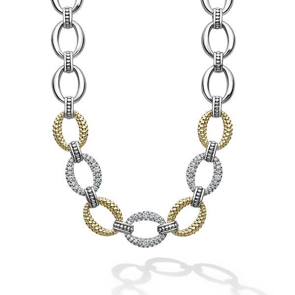 Lagos Caviar Lux Diamond necklace