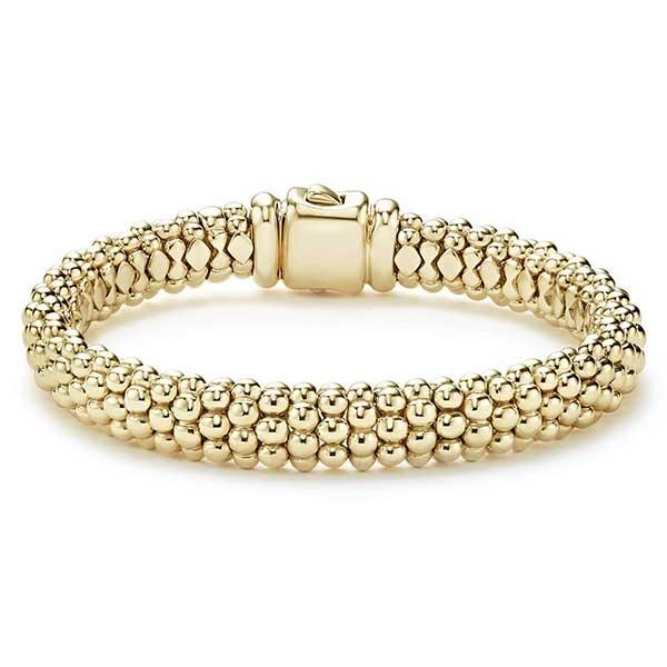 Lagos Classic 18k Caviar gold rope bracelet