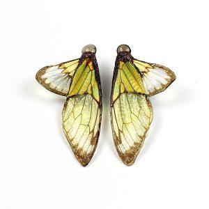 Marta Mattsson chartreuse cicada earrings