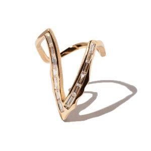 Milamore Kintsugi Deep V Diamond ring