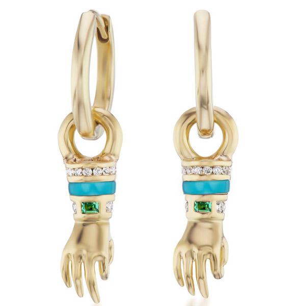 Sorellina Le Mani hand earrings