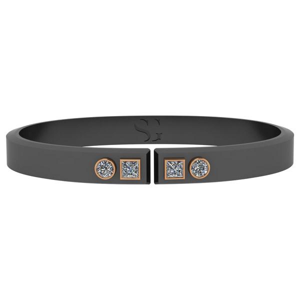 Stephanie Gottlieb Torque diamond bracelet