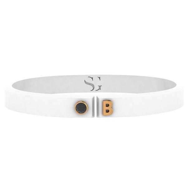 Stephanie Gottlieb white Torque bracelet