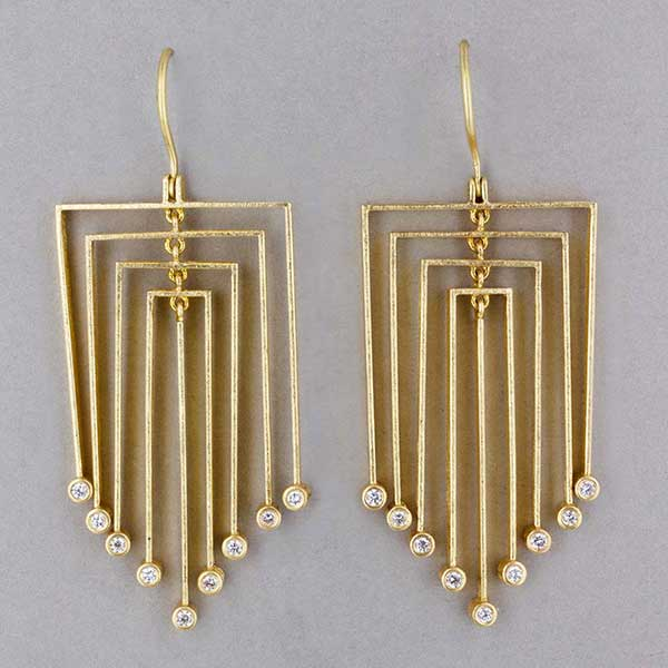 Todd Reed diamond and gold earrings
