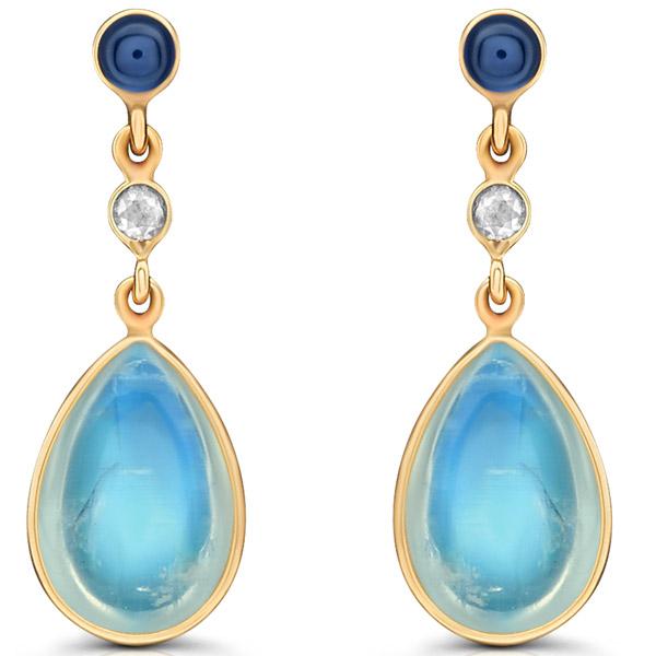 Tresor rainbow moonstone earrings