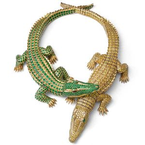 AMNH Cartier crocodile necklace