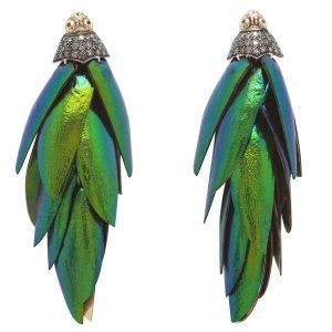 Bibi Van Der Velden scarab earrings