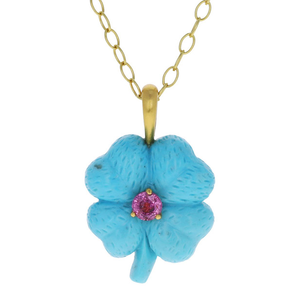 Cathy Waterman clover turquoise