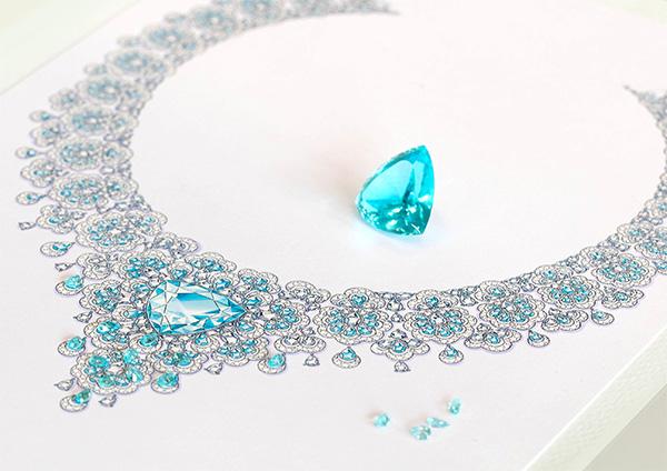 Chopard Precious Lace necklace sketch