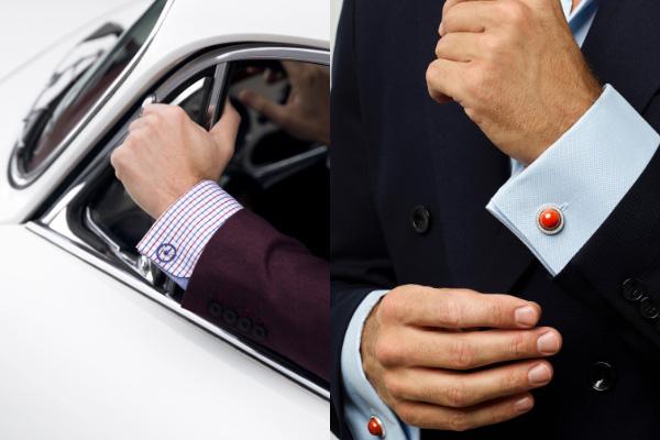 David Gotlib cufflinks on cuffs