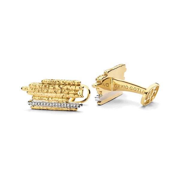 David Gotlib golden stripes cufflinks