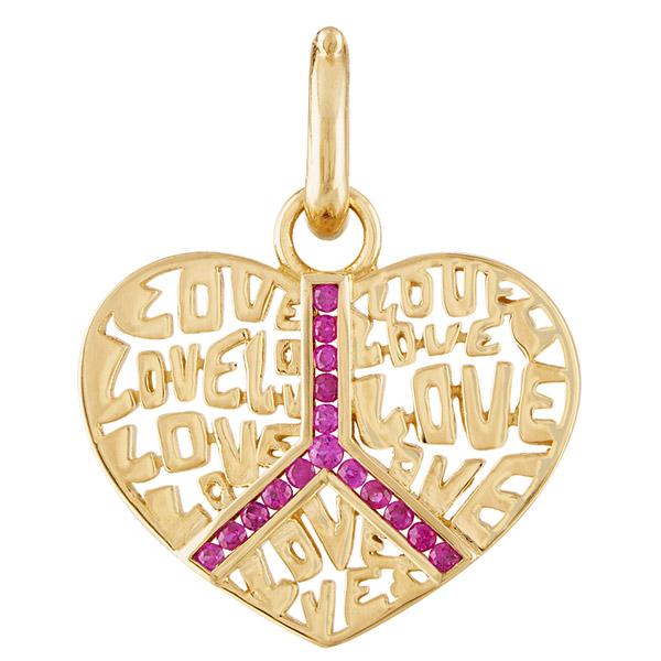 Eden Presley Peace and Love pendant