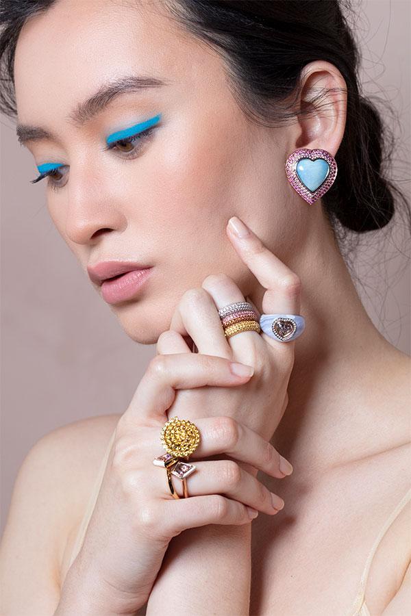 Emily P Wheeler campaign blue eyeliner