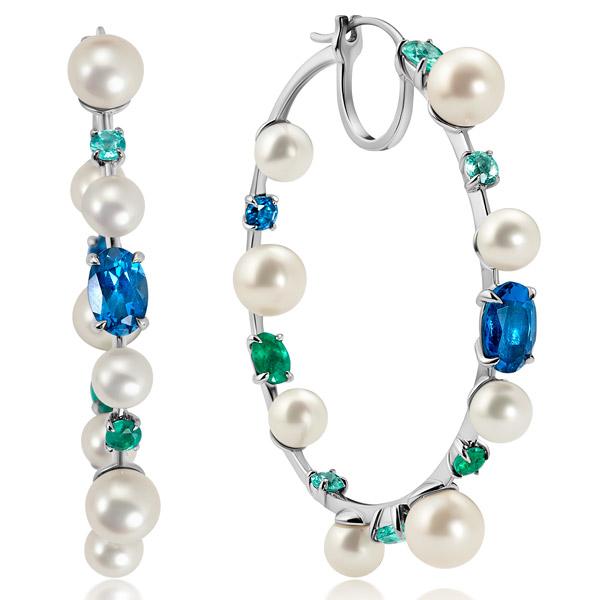Graziela Perola hoop earrings