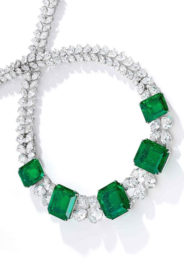Harry Winston emerald necklace