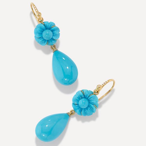Irene Neuwirth Tropical turquoise earrings