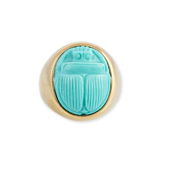 Jacquie Aiche turquoise scarab ring