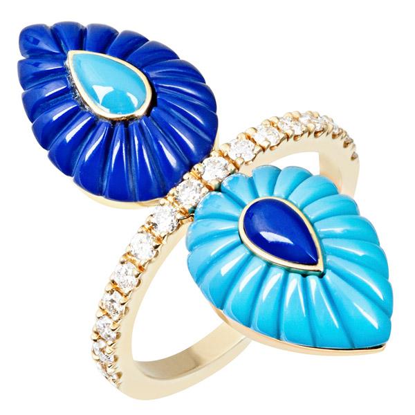LAtelier Nawbar turquoise lapis ring
