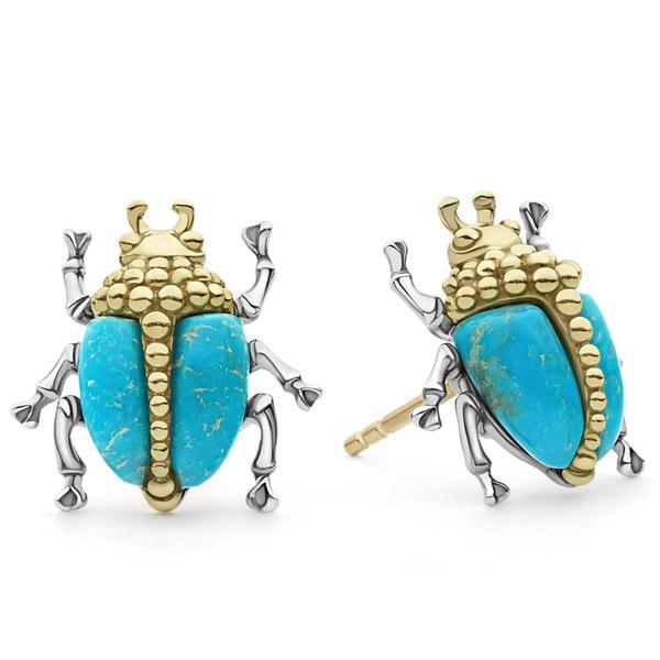 Lagos beetle stud earrings