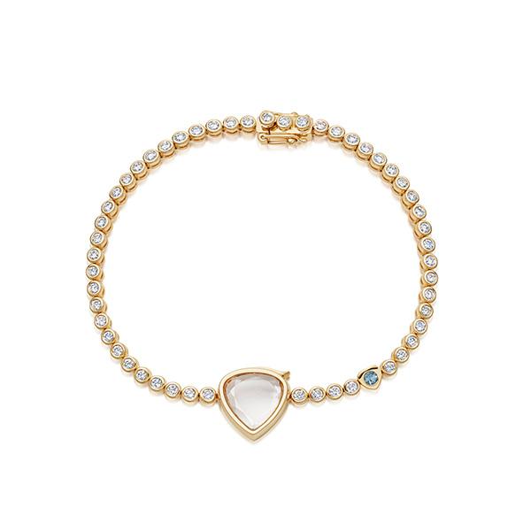 Loquet bridal tennis bracelet
