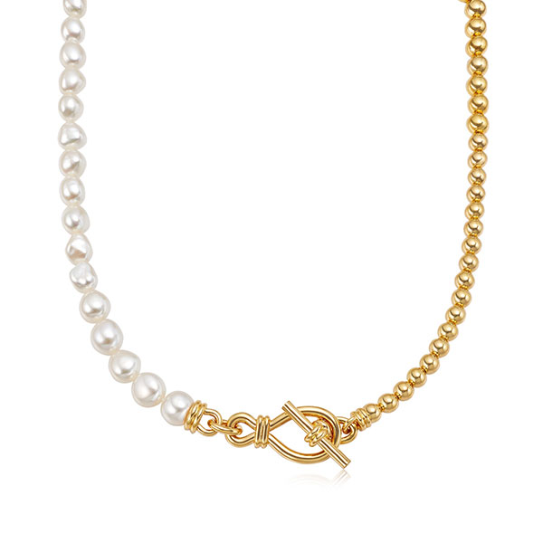 Missoma pearl necklace