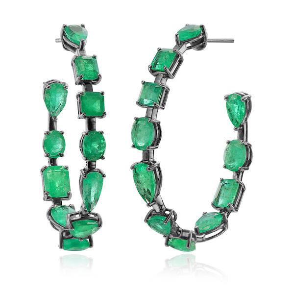 Nina Runsdorf emerald earrings