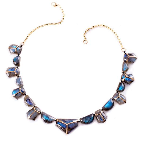 Rachel Atherley Lucky Scarab labradorite necklace
