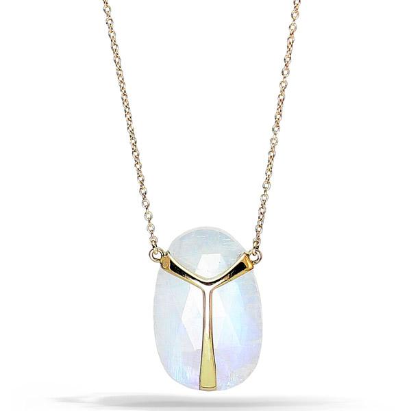 Rachel Atherley Lucky Scarab moonstone pendant