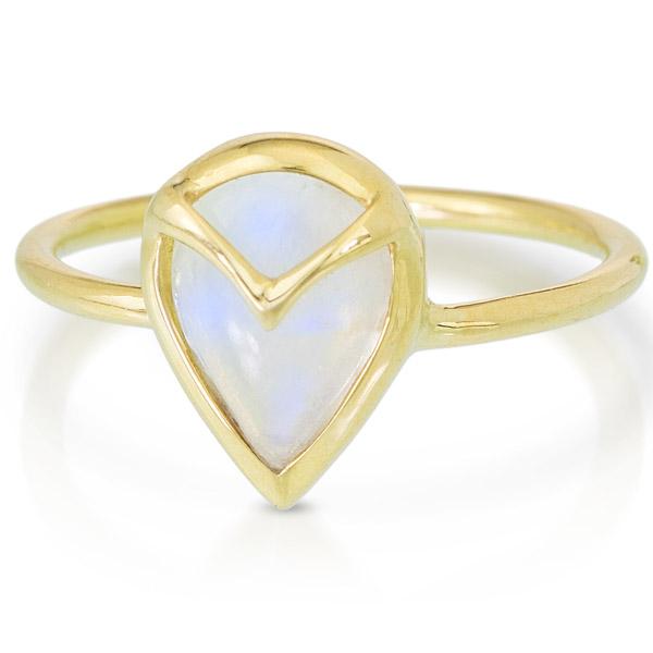Rachel Atherley moonstone Owl ring