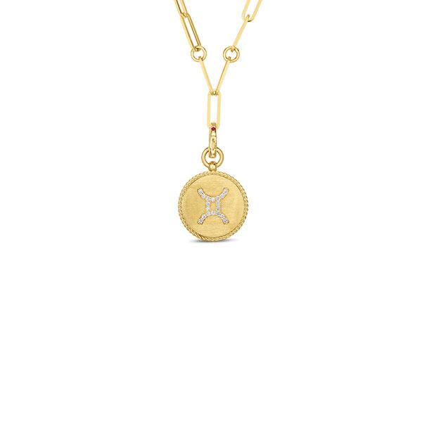 Roberto Coin gold Gemini medallion