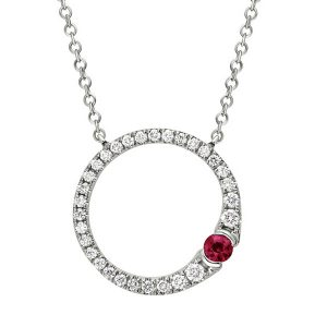 Artistry ruby pendant